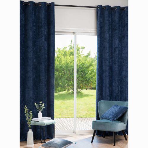 Tende A Vetro Maison Du Monde.Tende Con Occhielli Blu 135x270 Cm