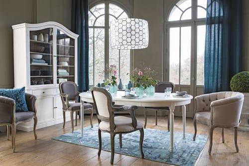 teppich in grun und taupe mit naturdruck 150x240 maisons du monde