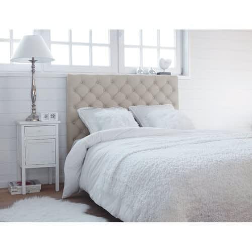 Testata da letto imbottita in lino L 160 cm