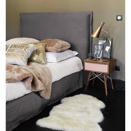 Testata per letto da foderare in legno L 140 cm