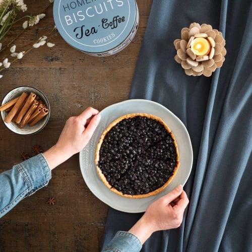 Tischdecke Aus Gewaschener Baumwolle Blau 150 X 250 Cm Encre Maisons Du Monde