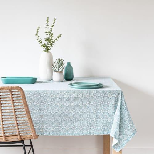 Tischdecke Aus Leinen Und Baumwolle Mit Grafischem Muster 150x250cm Megara Maisons Du Monde