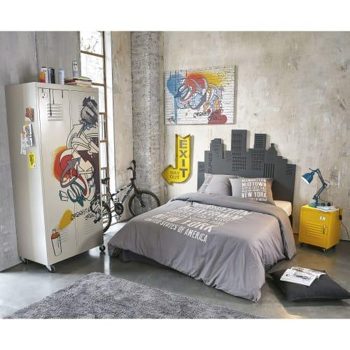 Toile graffiti multicolore 80x110