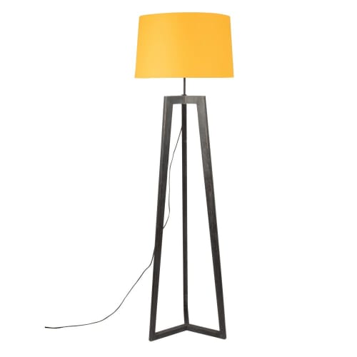 Collectible Small Table Lamp Wood Natural Tripod Stand Home Decorative Gift item