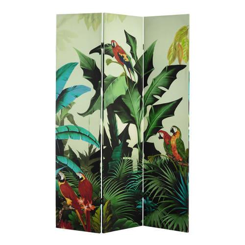 Awe Inspiring Tropical Print Room Divider Beutiful Home Inspiration Xortanetmahrainfo