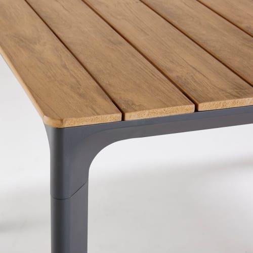 Terrastafel Met 6 Stoelen.Tuintafel Voor 6 A 8 Personen Van Composiet En Aluminium L200 Fuji
