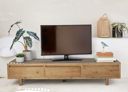 Tv Meubel Met 3 Lades Van Gerecycleerd Grenen
