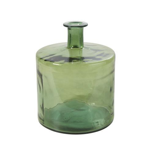 Vase en verre recycle