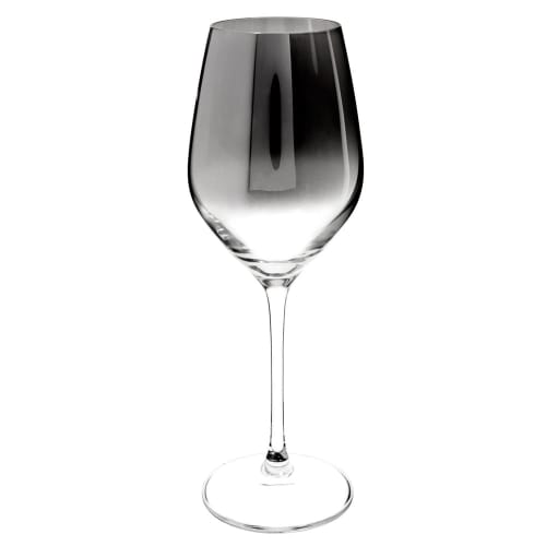 Verre A Vin En Verre Effet Chrome Harmonie Maisons Du Monde
