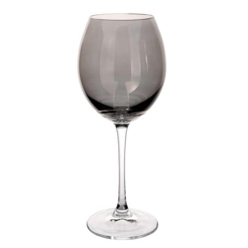 Verre à vin en verre gris