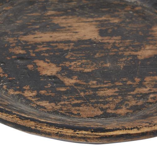 Vide-poches en bois recyclé effet noirci
