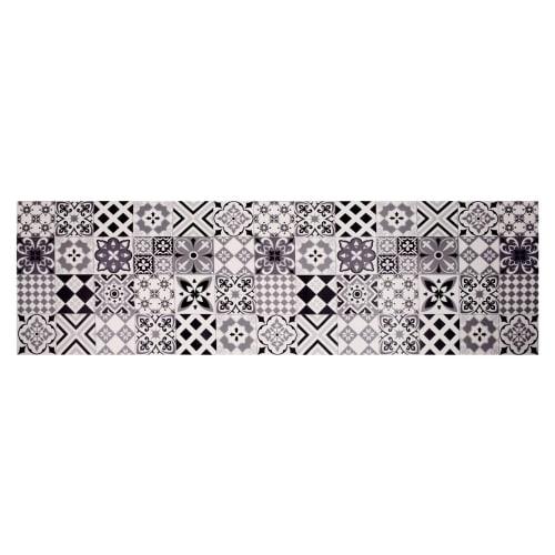 Vinyl-Teppich mit Zementfliesen-Motiven 60 x 199