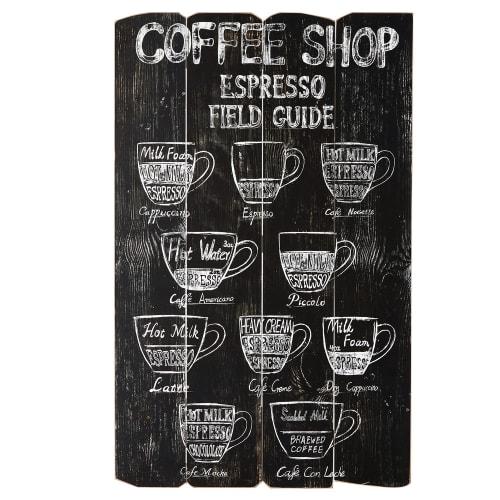 Christbaumkugeln Cappuccino.Wanddeko Kunstdruck 56x96 Maisons Du Monde