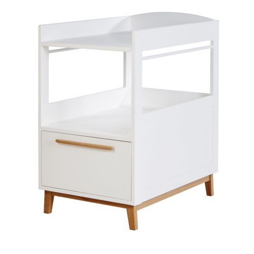 Cool White 1 Shelf 1 Drawer Changing Table Interior Design Ideas Apansoteloinfo