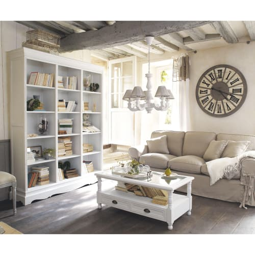 White 10-Drawer Coffee Table  Maisons du Monde
