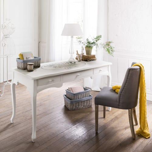 Scrivania Newport Maison Du Monde.White 3 Drawer Desk Confection Maisons Du Monde