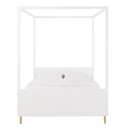 White Canopy Bed 140x190 Maisons Du Monde