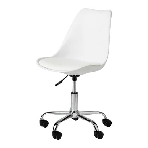 White Desk Chair With Casters