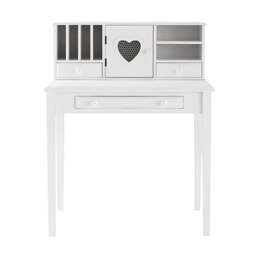 Scrivania Paint Your Life.White Writing 1 Door 3 Drawer Desk