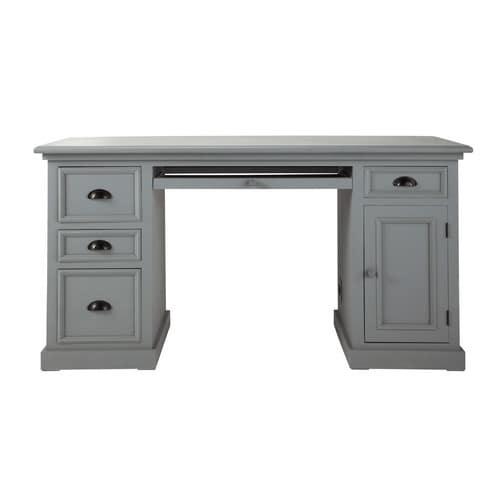 Wooden desk in grey W 150cm