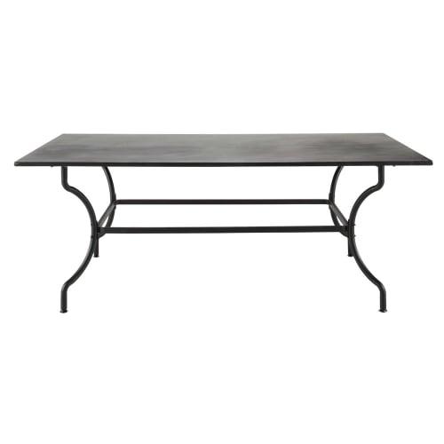 Wrought iron garden table in brown W 200cm | Maisons du Monde