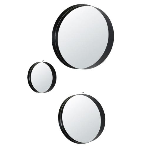 Welp Zwarte metalen ronde spiegels D54 (x3) Maore | Maisons du Monde NG-72