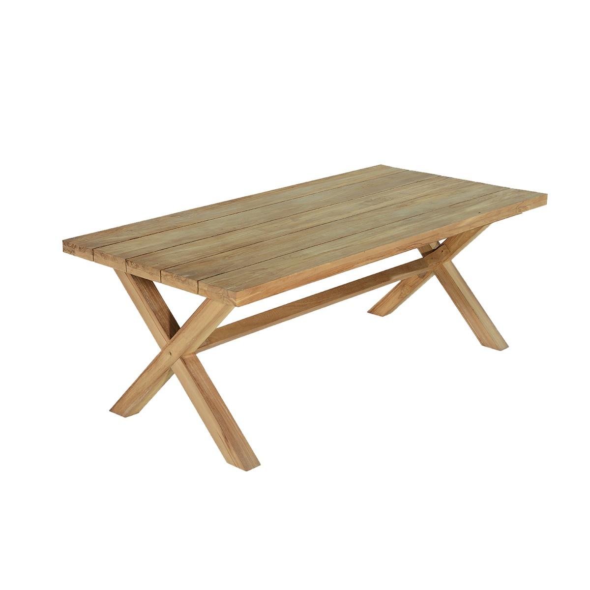 Table de jardin en teck massif L200