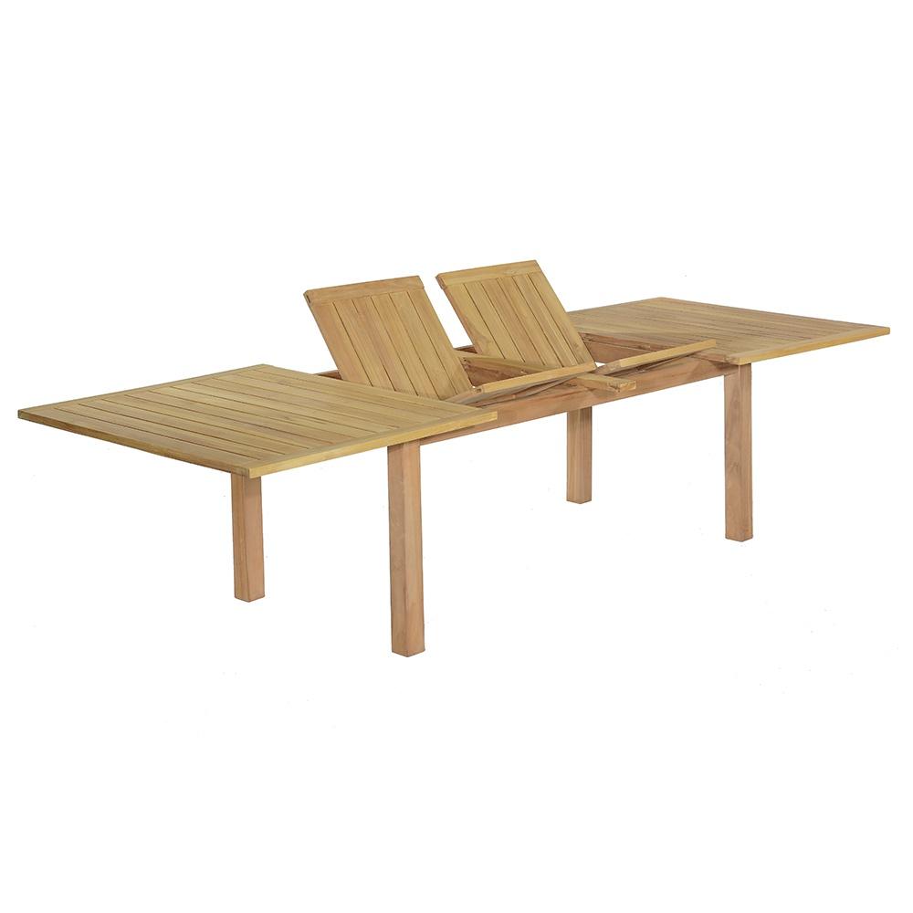 Table de jardin extensible en teck massif L200/300