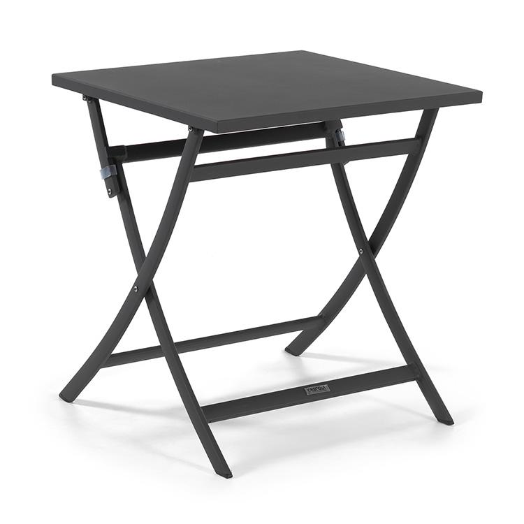 Table pliante en aluminium anthracite L70