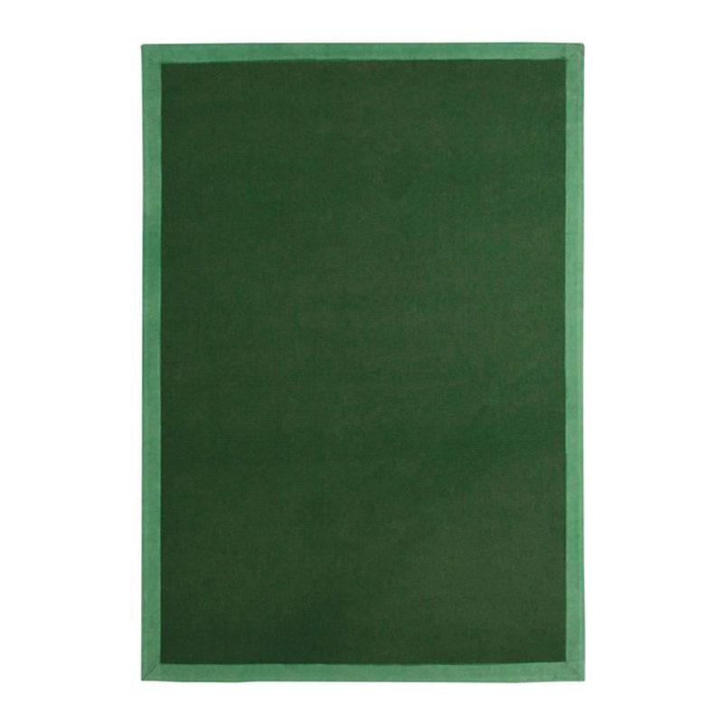 Tapis en jute vert foncé 160x230