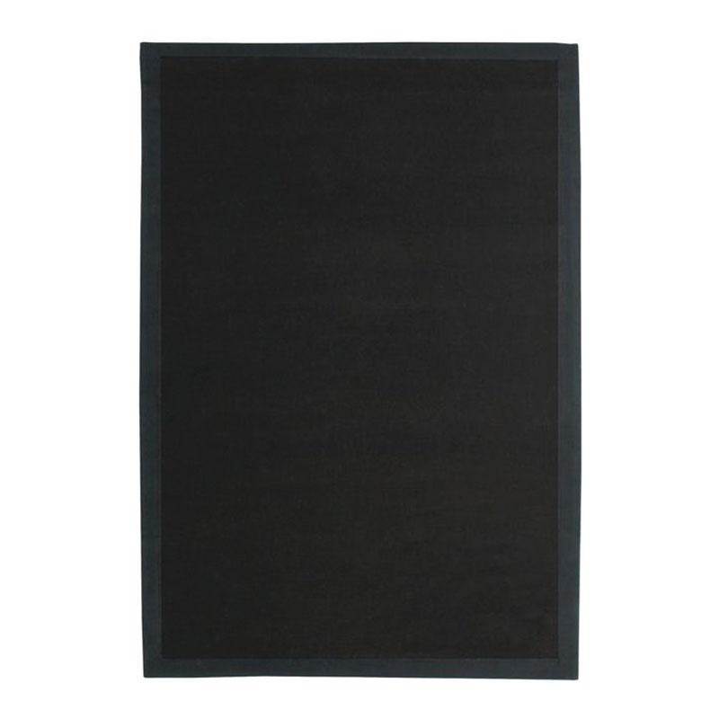 Tapis en jute noir 160x230