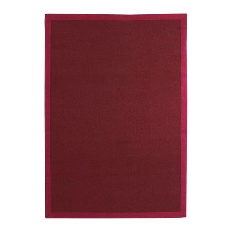 Tapis en jute rouge 160x230