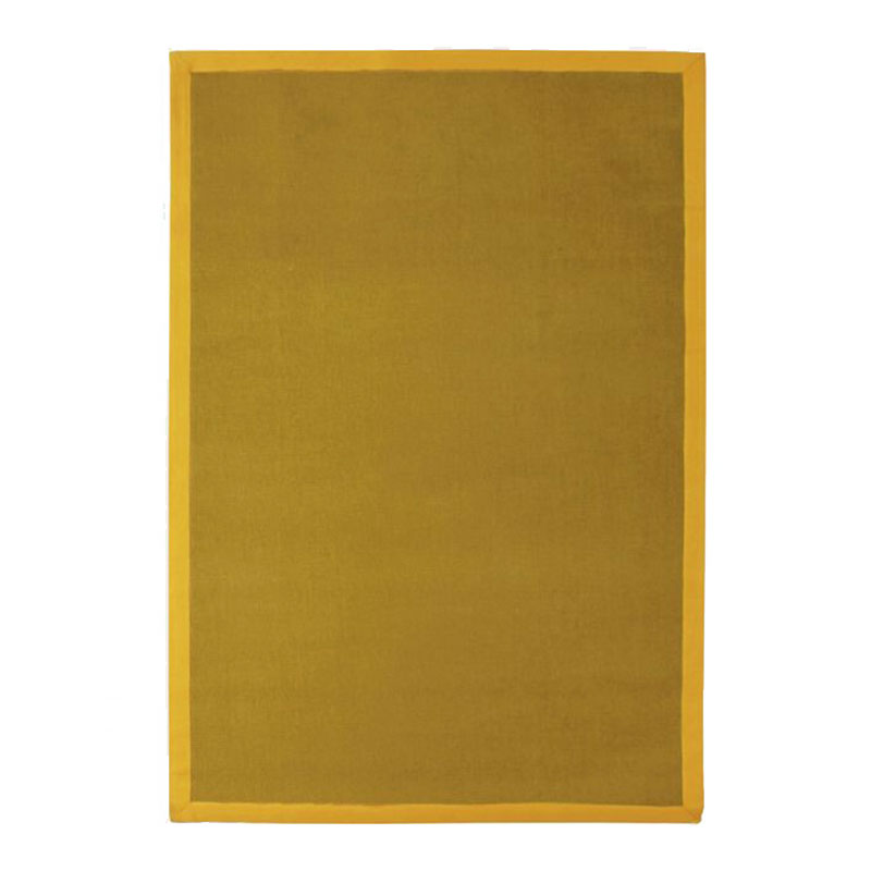 Tapis en jute jaune 160x230