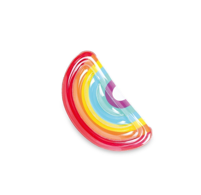 Bouée gonflable pour adulte en forme d'arc en ciel
