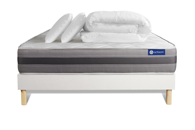 Pack ACTIMEMO RELAX 200x200cm sommier kit blanc