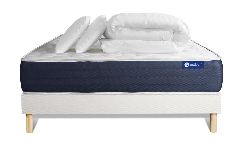 Pack ACTIMEMO SLEEP 140x190cm sommier kit blanc