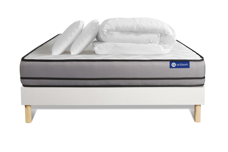 Pack ACTIMEMO NIGHT 200x200cm sommier kit blanc