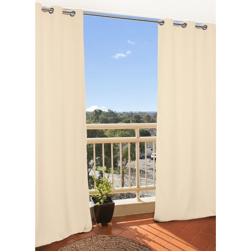 Rideau extérieur beige 135x250
