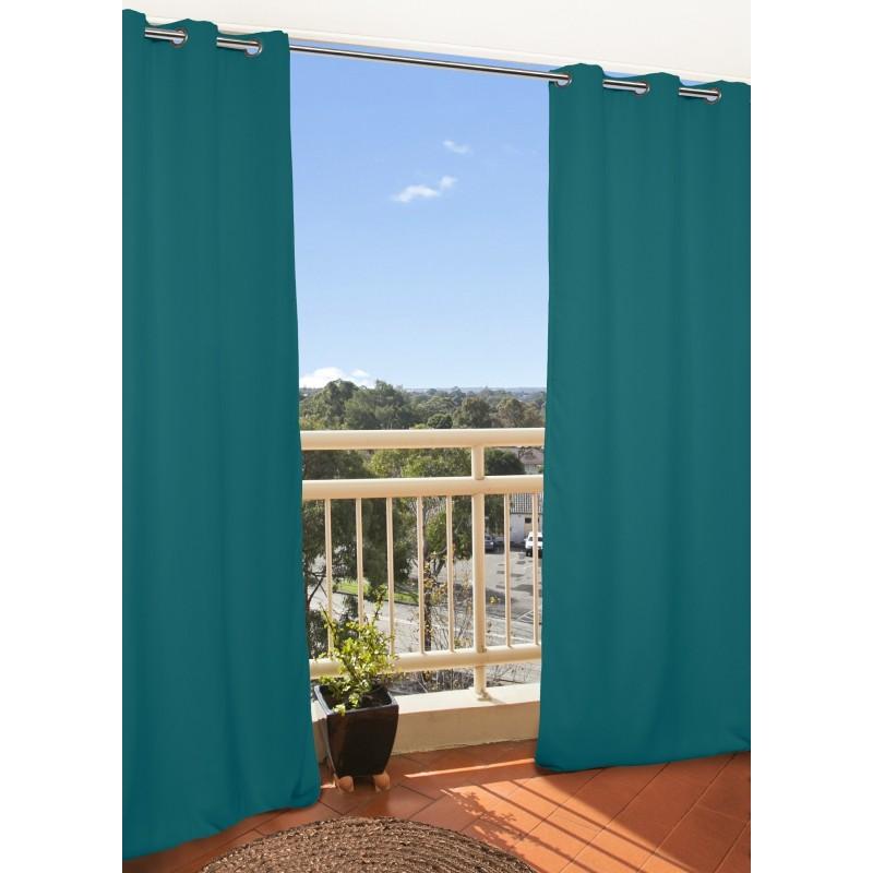 Rideau extérieur bleu 135x250