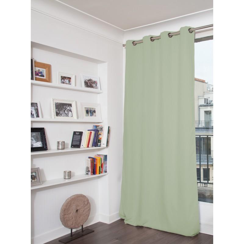 Rideau phonique thermique occultant vert 140x260
