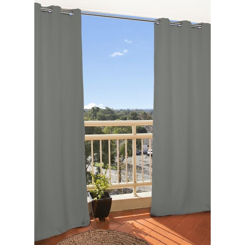 Rideau extérieur gris 135x250