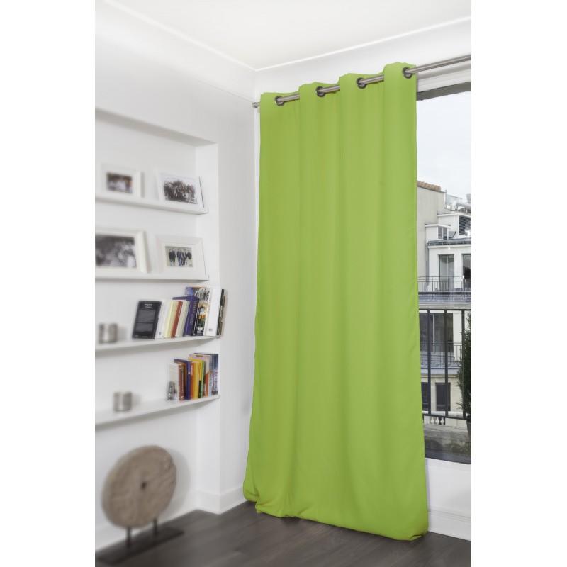 Rideau thermique occultant vert 140x260