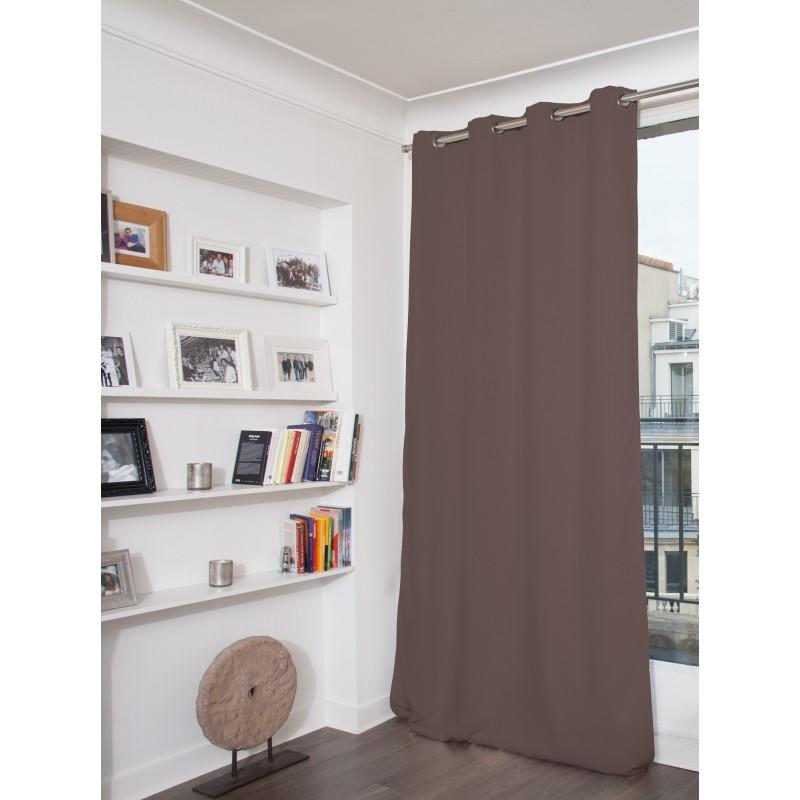 Rideau phonique thermique occultant violet 140x260