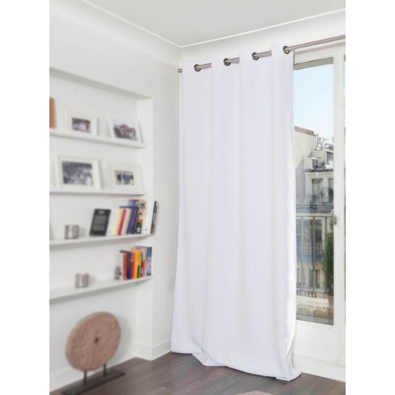 Rideau phonique thermique occultant blanc 140x180