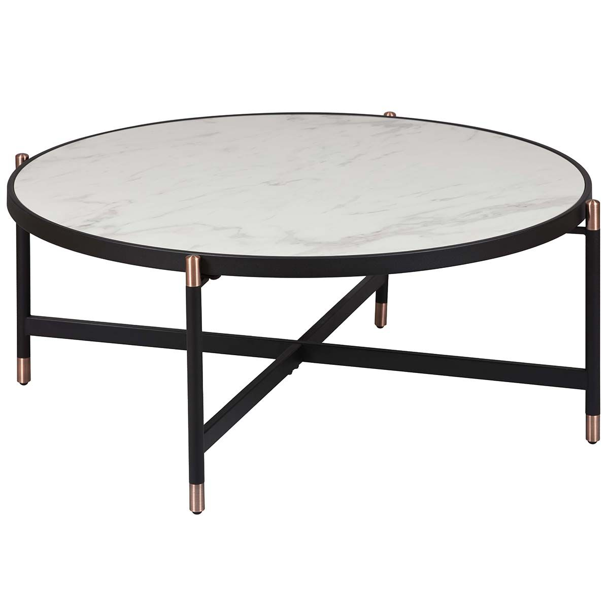 Table Basse Ronde Métal & Céramique