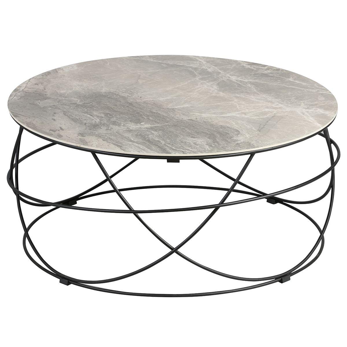 Table Basse Ronde Plateau Céramique