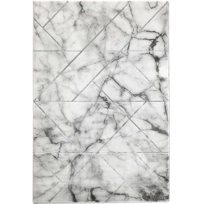 MARBLE - Tapis marbre gris 120x170cm