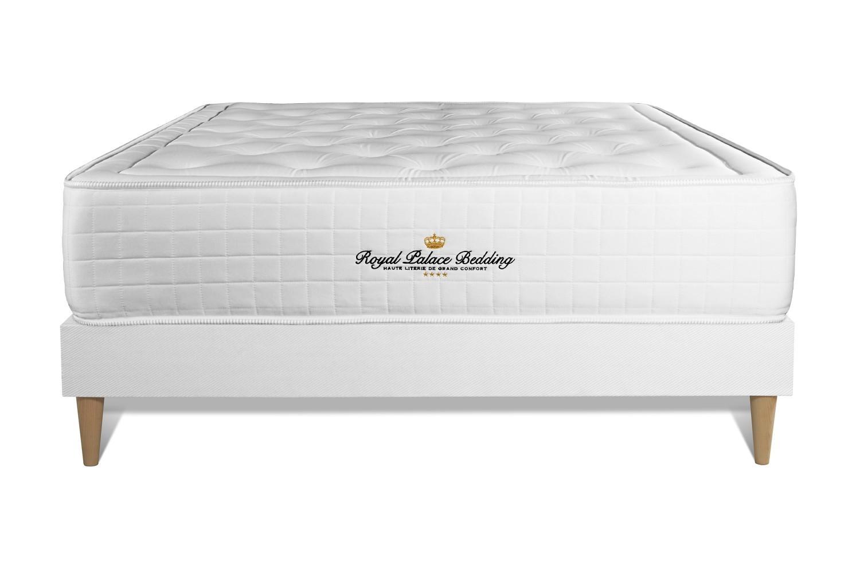 Pack prêt à dormir 140 x 190 cm sommier blanc