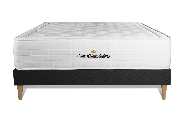 Pack prêt à dormir 140 x 190 cm sommier noir