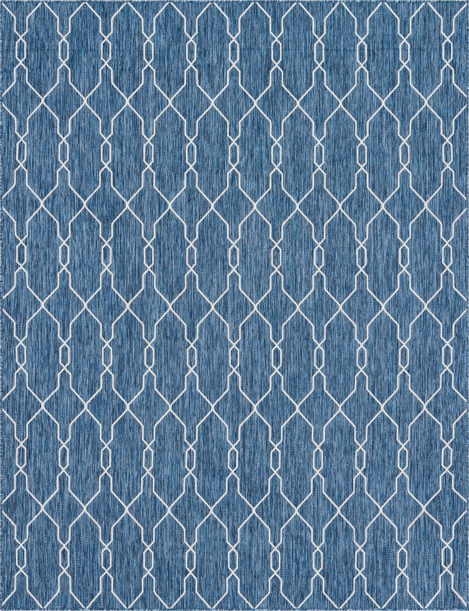 Tapis intérieur extérieur bleu abstrait 120x160